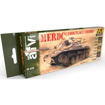Set Colores: CAMUFLAJE M.E.R.D.C. U.S. ARMY - AK Interactive 4230
