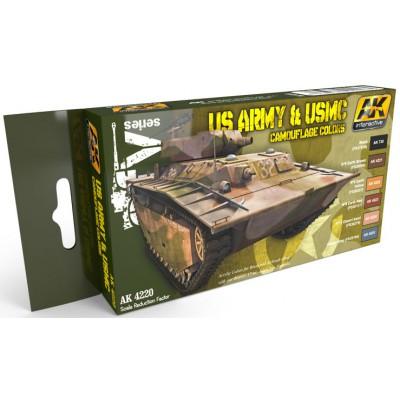Set Colores: CAMUFLAJE U.S. ARMY & U.S.M.C. - AK Interactive 4220