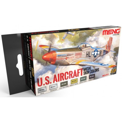 Set Colores: U.S. AIRCRAFT Metal Skin Colors - MENG MODEL MC-812