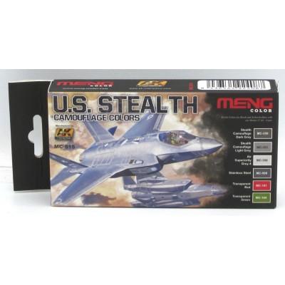 Set Colores: U.S. STEALTH Camuflage Colors - MENG MODEL MC-815