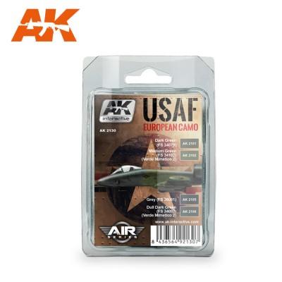 Set Colores: U.S.A.F. European Camo - AK Interactive AK 2130