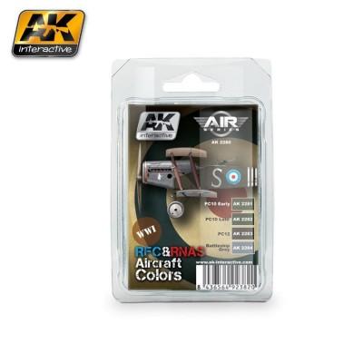 Set Colores: R.F.C. & R.N.A.S. Aircraft Colors - AK Interactive AK 2280