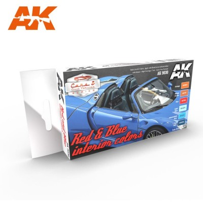 CARS & Civil Vehicles: RED & BLUE interior colors - AK 9030