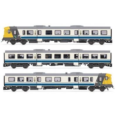 AUTOMOTOR RENFE 592 CAMELLO BLANCO Y AZUL - DIGITAL CON SONIDO - ESCALA N - ARNOLD HN2411