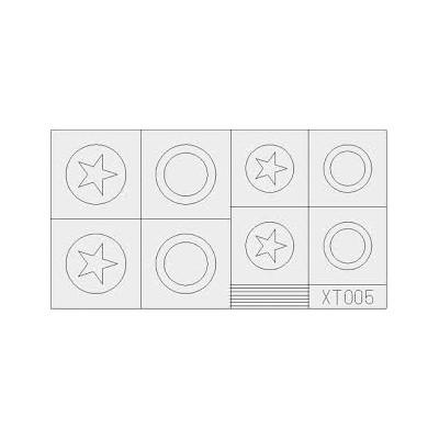 PLANTILLA ESTRELLAS U.S. GRANDES 1/35 - Eduard XT005