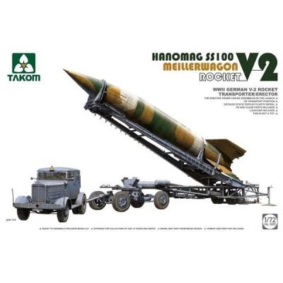 CAMION SS-100 & REMOLQUE/LANZADOR & MISIL V-2 1/72 - Takom 5001