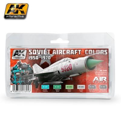 AIR series: SOVIET AIRCRAFT COLORS 1950 - 70 (6 botes)