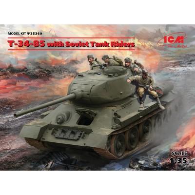 CARRO DE COMBATE T-35/85 & INFANTERIA 1/35 - ICM 35369