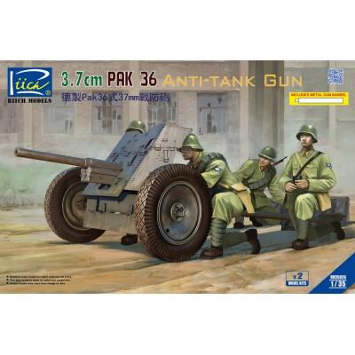 CAÑON ANTICARRO PAK 36 37MM - ESCALA 1/35 - RIICH MODEL RV35026