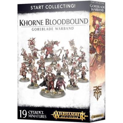 START COLLECTING KHORNE BLOODBOUND GOREBLADE WARBAND - GAMES WORKSHOP 70-81