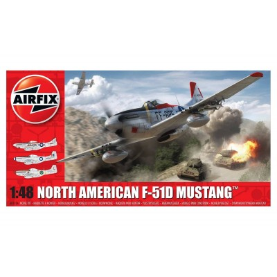 NORTH AMERICAN F-51 D MUSTANG 1/48 - Airfix A05136