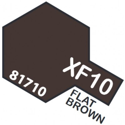 PINTURA ACRILICA MARRON MATE XF-10 (10 ml)