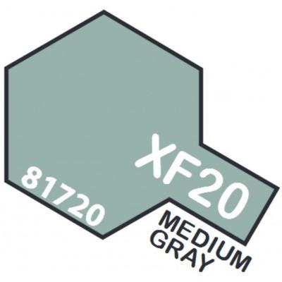 PINTURA ACRILICA GRIS MEDIO MATE XF-20 (10 ml)