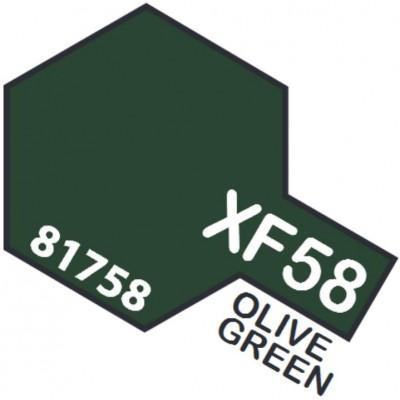 PINTURA ACRILICA VERDE OLIVA MATE XF-58 (10 ml)