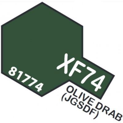PINTURA ACRILICA OLIVE DRAB MATE XF-74 (10 ml)