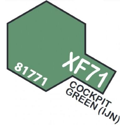 PINTURA ACRILICA VERDE CABINA MATE XF-71 (10 ml)