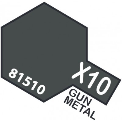 PINTURA ACRILICA GUN METAL BRILLANTE X-10 (10 ml)