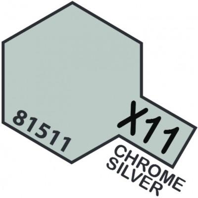 PINTURA ACRILICA PLATA CROMADA BRILLANTE X-11 (10 ml)