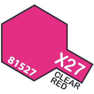 PINTURA ACRILICA ROJO TRANSPARENTE X-27 (10 ml)