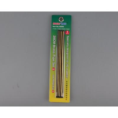 SET Nº 5 TUBO HUECO LATON 200 mm (1,3 x 1/ 1,8 x 1/ 2,3 x 1/ 2,8 x 1 mm) - Trumpeter Master Tools 09946