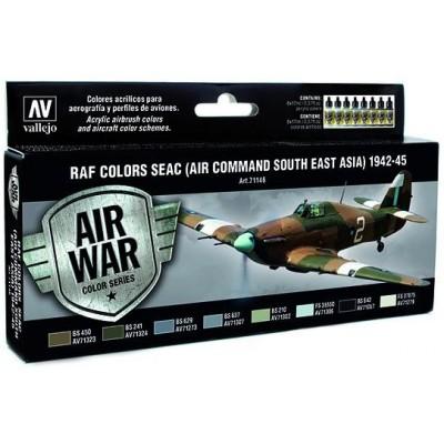 AIR WAR: R.A.F. COLORS SEAC (Air Command Souht East Asia) 1942 - 45 (8 colores)