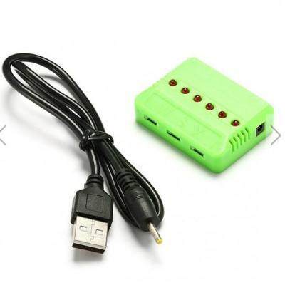 CARGADOR USB PARA 3 BATERIAS 3.7V LIPO CON CONECTOR BLANCO