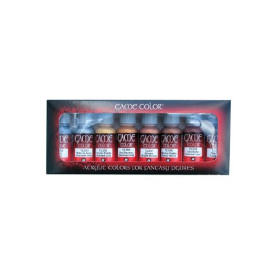 SET COLORES METALICOS GAME COLOR (8 BOTES DE 17ML) - ACRILICOS VALLEJO 72303