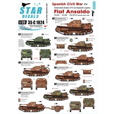 CALCAS FIAT ANSALDO C.V. 33 -Ejercito Nacional Español- 1/35 - Star Decals 35C1024