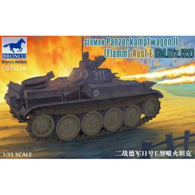 CARRO LANZALLAMAS SD.KFZ. 122 Ausf. E Flammepanzer II 1/35 - Bronco Models CB35124