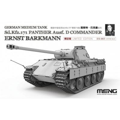 "CARRO DE COMBATE Sd.Kfz. 171 Ausf. D ""Ernst Barkmann"" PANTHER D 1/35 - Meng ES-003"