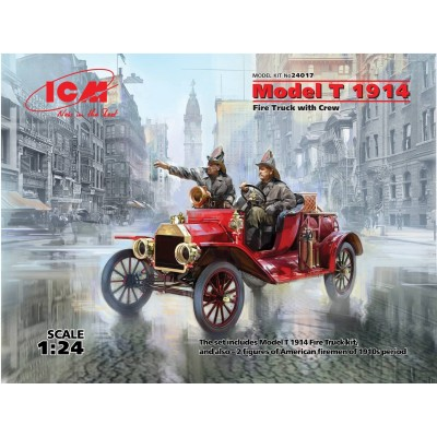 FORD T -1914- BOMBEROS 1/24 - ICM 24017