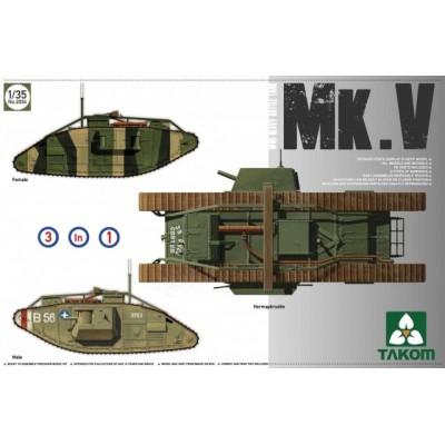 TANKE MK-V 3 en 1 1/35 - Takom 2034