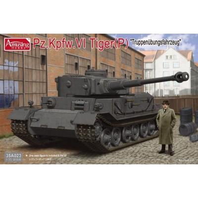 CARRO DE COMBATE Sd. Kfz. 181 TIGER (P) 1/35 - Amusing Hobby 35A023