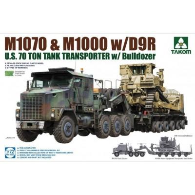 CAMION M-1070 GONDOLA M-1000 & BULLDOZER D9R 1/72 - Takom 5002