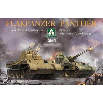 CARRO ANTIAERO FLAKPANZER PANTHER Flakvierling & Coelian -2 en 1- 1/35 - Takom 2105