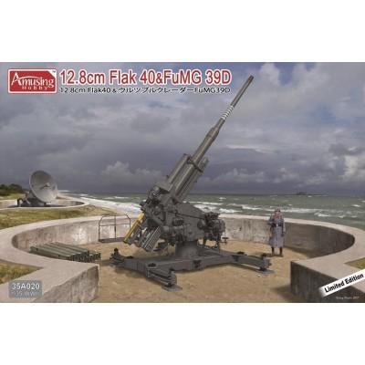 CAÑON ANTIAEREO FLAK-40 (128 mm) & RADAR FuMG 39D 1/35 - Amusing Hobby AH35A020