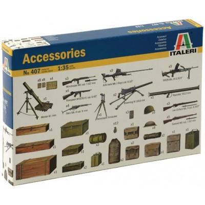 ACCESORIOS Y ARMAS ALIADAS - Italeri 407
