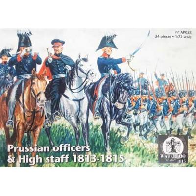 ESTADO MAYOR Y OFICIALES PRUSIANOS 1813-1815 (12 FIGURAS MONTADAS A CABALLO) - ESCALA 1/72 - WATERLOO 1815 AP058