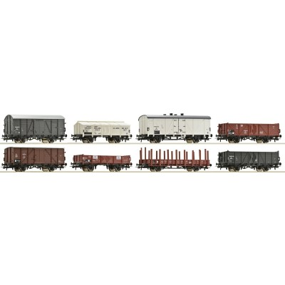 SET 8 VAGONES MERCANCIAS NS EP.III - ESCALA H0 - ROCO 67128