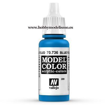 PINTURA ACRILICA AZUL FLUORESCENTE (17 ml) Nº209