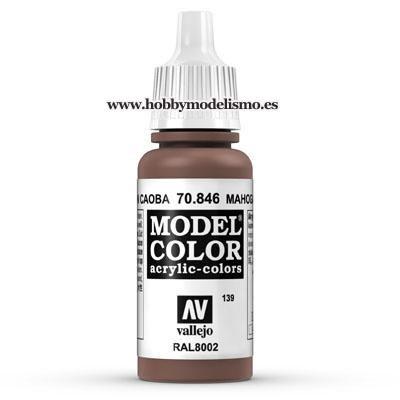 PINTURA ACRILICA MARRON CAOBA (17 ml) Nº139 RAL8002