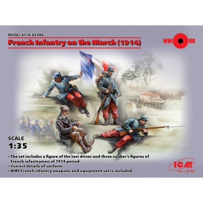 INFANTERIA FRANCESA EN MARCHA -Marne 1914- 1/35 - ICM 35705