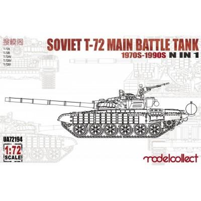 CARRO DE COMBATE T-72 Mod. 1970 1/72 - Modelcollect UA72194