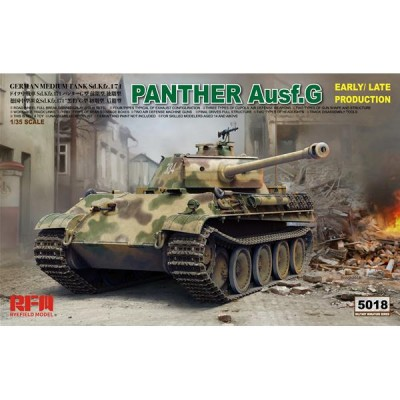 CARRO DE COMBATE SD.KFZ 171 PANTHER G 1/35 - Rye Field Model 5018