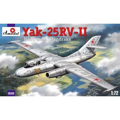 YAKOVLEV YAK-25 RV-II MANDRAKE 1/72 - AMODEL 72212