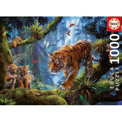 PUZZLE 1000 pzas. TIGRES EN EL ARBOL - EDUCA 17662
