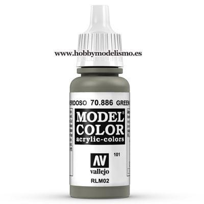 PINTURA ACRILICA GRIS VERDOSO (17 ml) Nº101 RAL7002 RLM02