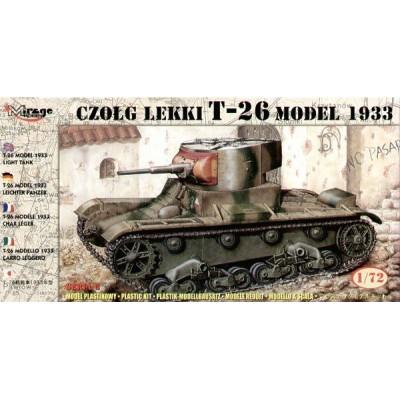 CARRO DE COMBATE T-26 Mod. 1.933 C/ESP 1/72 - Mirage Hobby 726009