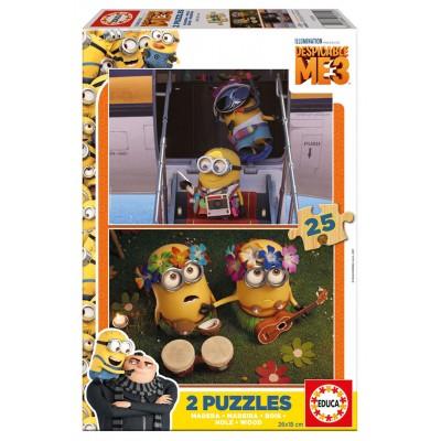 PUZZLES 2x25PZS MADERA - MINIONS - EDUCA 17231