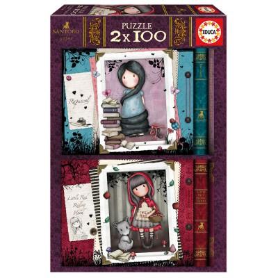 PUZZLES 2x100 PZS GORJUSS - EDUCA 17822